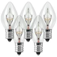 c7 clear replacement bulb 5 watt 130 volt
