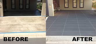 high pressure concrete cleaning sealing resurfacing topping