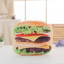 Sofa King Burgers Red Bank by Cute Simulation Pizza Hamburger Bread Cookies Pillow Plush