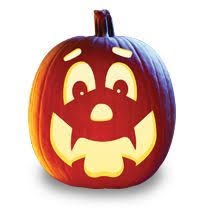 Puking Pumpkin Pattern Free by 100 Pumpkin Carving Stencils For Faces Halloweenfreebies Com