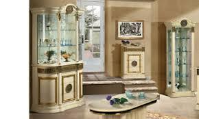 details zu vitrine wohnzimmerschrank beige hochglanz griechisch mäander stilmöbel klassisch
