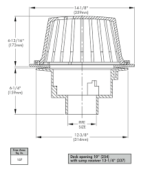 watts rd 100 roof drain specs outlets options