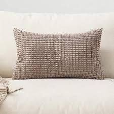 miulee 1 stück cord weiches massiv dekorativen quadratisch überwurf kissenbezüge kissen für sofa schlafzimmer 12 x20 30 x 50 cm brown