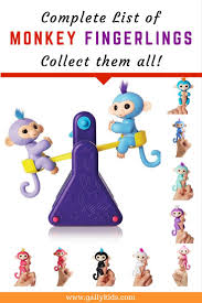 Collect All The Monkey Fingerlings Toys Heres A List Of That Has Been Released So Far Lots Kids Want These For Christmas