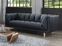 canapé cuir de buffle 3 places canapé et fauteuil 100 cuir de buffle noir murphy