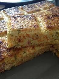 cuisine legere quiche sans pâte carottes courgettes et bacon et sa