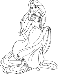 Coloriage Raiponce With Disney Beautiful Coloring Imprimer Gratuit