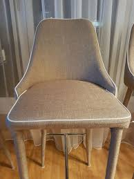 4x designer bar stühle mit lehne neuwertig