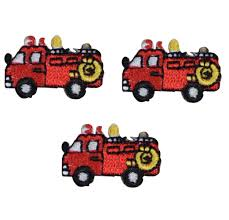 100 Fire Truck Applique Small Red Patch Iron On Etsy