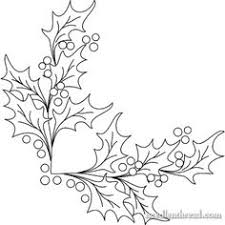 Hand Embroidery Pattern Boughs Of Holly
