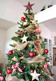 Ferry Brown Gold Green Burlap Rustic Christmas Tree Decorating Ideas Hunter