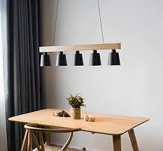 zmh pendelleuchte esstisch pendelle holz und metall hängeleuchte höhenverstellbar hängele retro deckenleuchte e27 leuchtmittel für esszimmer