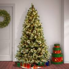 75 White Green Pine Trees Artificial Chritmas Tree With 650 Incandescent Clear Lights Stand