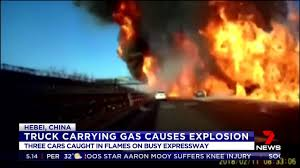 Truck Explodes On Busy Expressway In China | The West Australian Russian Truck Gas Explosion Hd Tanker Truck Fire Kills More Than 100 People In Gerianile Tanker Fire Kills Driver Temporarily Shuts Down I270 And Us Explodes Closing I94 Near Detroit Chicago Tribune Overturned Causes Massive Atwater Driver Dies At The Scene Propane Gas Explosions In Jackson Hole Wy At Amerigas Nevada County Wreck Update Authorities Recover Victims Of Fatal Arrested Umvoti Drivers Released Zuland Obsver Explosion Gnville The Daily Gazette Injuries From Modern Sales Pittston Pa Watch A Fuel Burst Into Massive Fireball On Louisiana Energy Accidents Wikipedia