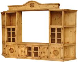Santa Maria 5 Star Mexican Rustic Pine Entertainment Center