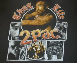 Vintage THUG LIFE Tupac 2pac Rap Hip Hop T Shirt 90s Black