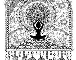 KARMA Coloring Page Digital For Adults Instant Download Book Yoga Zen