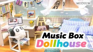 diy undertale toy dollhouse cute miniature room with music box