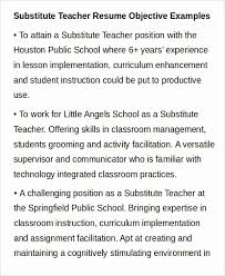 Substitute Teacher Resume No Experience Simple Inspirational Sample Profile For Design