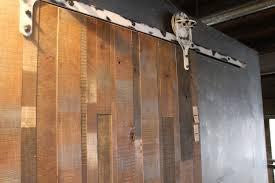 D Vertical Slat Reclaimed Wood Door With Sawmill Hanger
