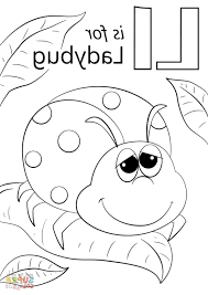 Large Printable Block Letters L Letter Is For Ladybug Coloring Page Pages Click