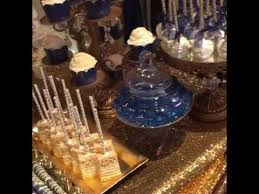 Elegant Navy And Gold Wedding Dessert Table How To Style Ideas