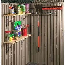 rubbermaid vertical storage shed shelves blue carrot com