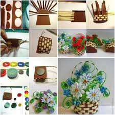 Paper Flower Baskets