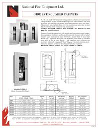 Nfpa 10 Fire Extinguisher Cabinet Mounting Height by Fire Extinguisher Cabinet Size Imanisr Com