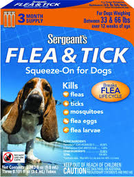 Wd 65733 Lamp Replacement Instructions by Amazon Com Sergeant U0027s Flea And Tick Squeeze On Dog Under 33