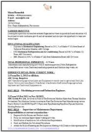 Sample Template Of A Experienced Mechanical Engineer With Great Job Profile Career Objective Professional Curriculum Vitae Free Download In Word Doc