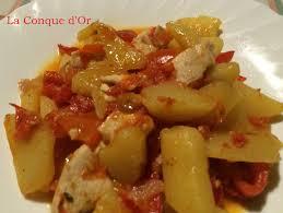 comment cuisiner blanc de poulet blanc de poulet aux poivrons et pommes de terre les recettes de