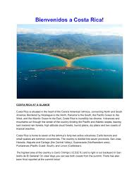 100 Daily Page Isthmus Welcome To Costa Rica Acclimation Guide S 1 8 Text Version