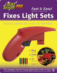 Fixing Christmas Tree Lights Fuse by Lightkeeper Pro Miniature Light Repairing Tool Fixes Christmas