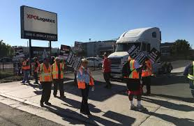 100 Truck For Hire Picketing Targets Contractor Hiring At California Freight Sites WSJ