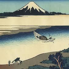 artmemo hokusai 36 vues du mont fuji le mont vu de la rivière