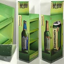 Standing Beer Display Rack For Stand 2Cardboard Floor