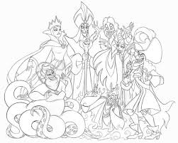 Colouring Pages Disney Villains Coloring In Style Tablet