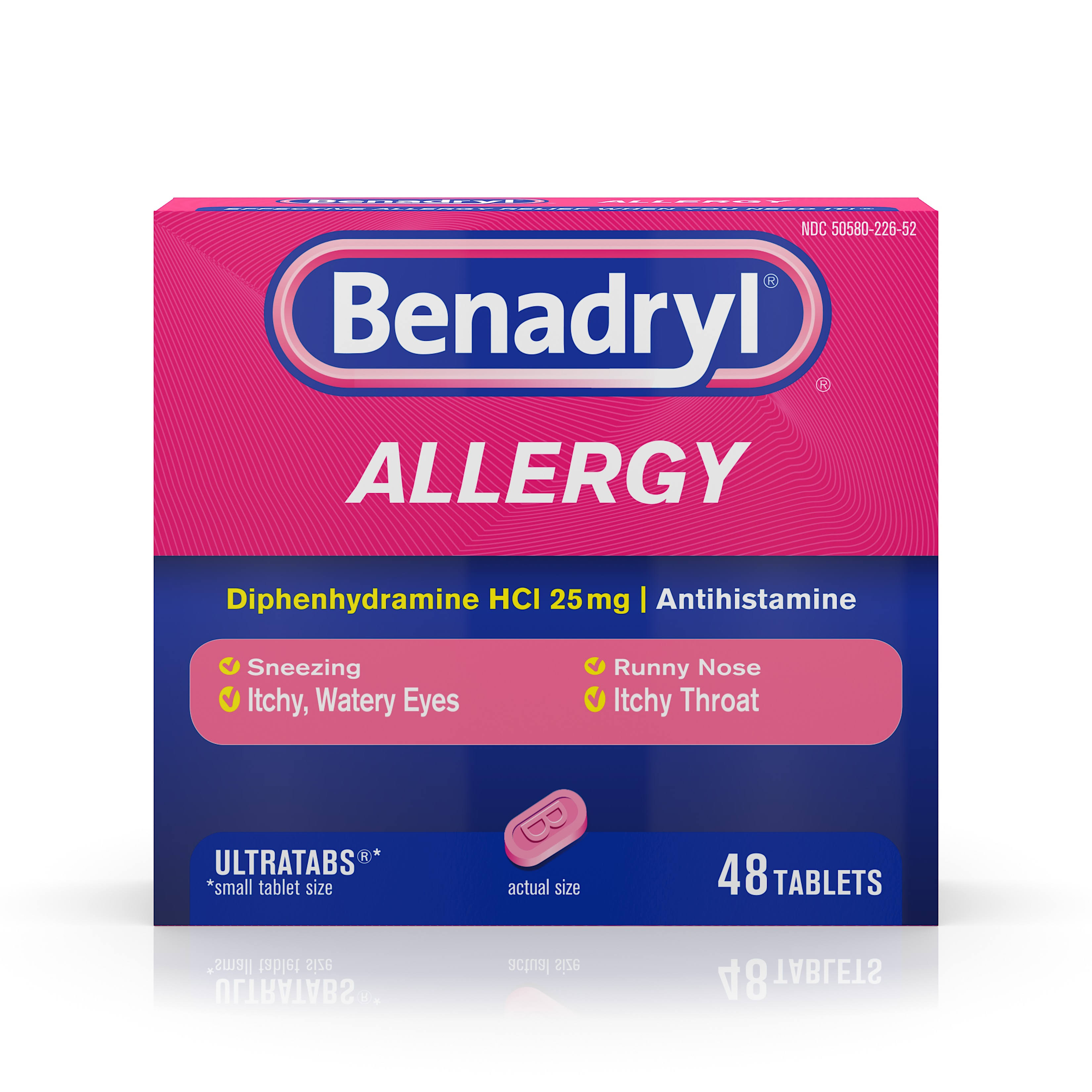 Benadryl Allergy Ultratabs - 48 Tablets, 25mg