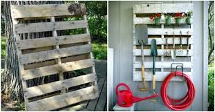 DIY Pallet Garden Tool Organizing Rack Instructions
