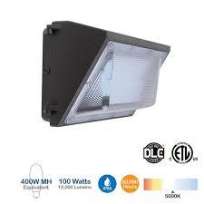 brightstar lwp100bk 100w led wall pack 12000 lumens 5000k 400w
