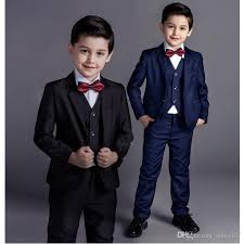 2018 New Fashion Baby Boy Pioneer Child Suit Formal Wedding Black Navy Dress Kids Occasion Wear For From Aliza327