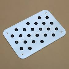 Aluminum Antiskid Floor Mat Carpet Foot Rest Pedal Plate Car Truck ...