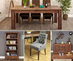 Walnut Dining Table Rooms Room Set Modern Extending Solid ...