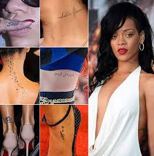 All Rihanna Tattoos And Their Meanings