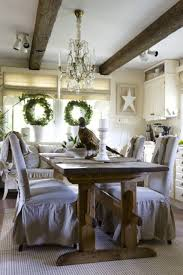 Festive Christmas Decorations For An Adult Rustic Table Setting Tree Stumps As Placemats And