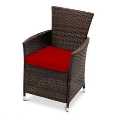 Red Patio Furniture Pinterest by Red Replacement Seat Cushion For Garden Rattan Chair Outdoor Patio