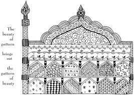 Simple Coloring Islamic Art Pages For 11 Images Of Patterns Geometric