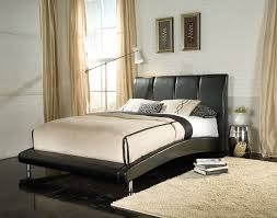King Platform Bed With Fabric Headboard by Bedroom Contemporary Bedroom Design Ideas With Modern Queen King