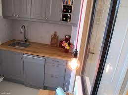 cuisine grise plan de travail bois meuble de cuisine en bois gris studio selection photos projet